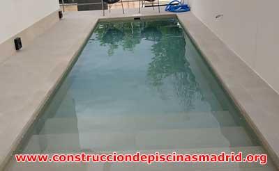 Construcción Piscinas de Obra de Porcelánico Madrid